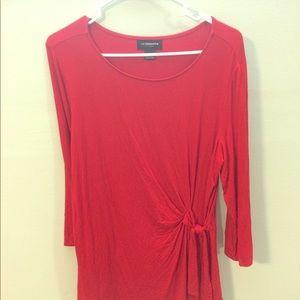 Liz Claiborne long sleeve red shirt